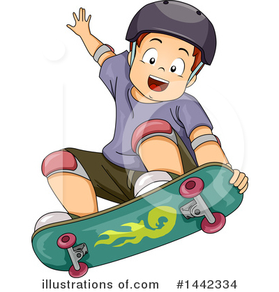 Skateboarding Clipart #1442334 by BNP Design Studio