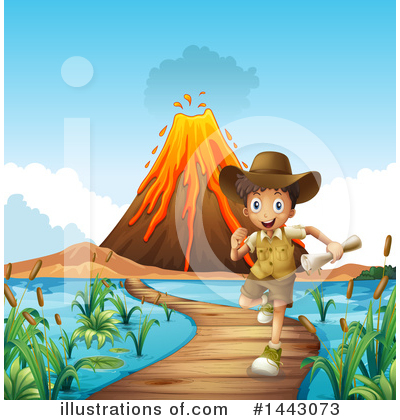 Volcano Clipart #1443073 by Graphics RF