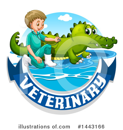 Crocodile Clipart #1443166 by Graphics RF
