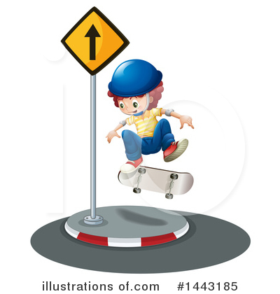 Skateboarding Clipart #1443185 by Graphics RF
