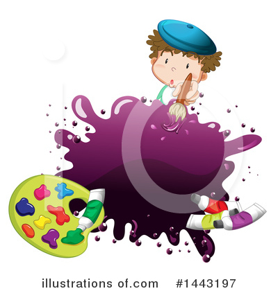 Painting Clipart #1443197 by Graphics RF