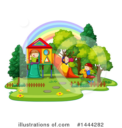 Playground Clipart #1444282 by Graphics RF
