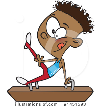 Gymnastics Clipart #1451593 by toonaday