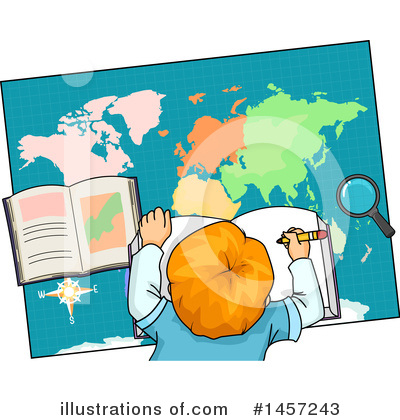 Map Clipart #1457243 by BNP Design Studio