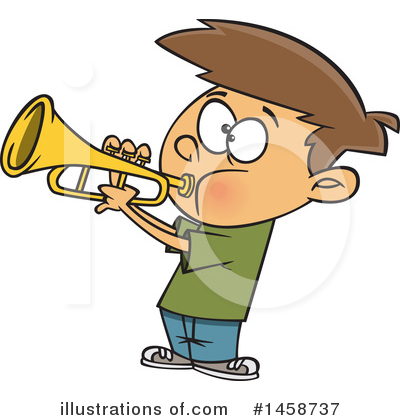 Trumpet Clipart #1458737 by toonaday