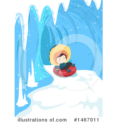 Snow Tubing Clipart #1467011 by BNP Design Studio