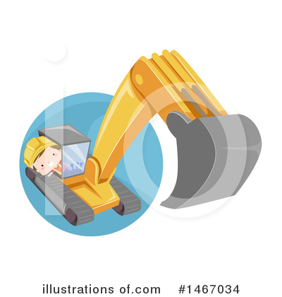 Excavator Clipart #1467034 by BNP Design Studio