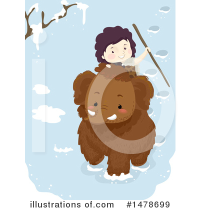 Woolly Mammoth Clipart #1478699 by BNP Design Studio