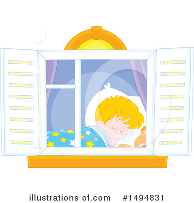 Sleeping Clipart #1494831 by Alex Bannykh