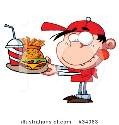 Burger Clipart #34083 by Hit Toon