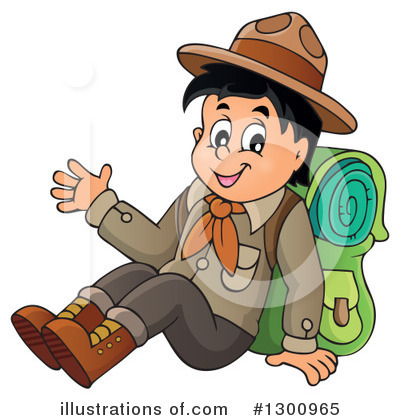 Royalty-Free (RF) Boy Scout Clipart Illustration by visekart - Stock Sample #1300965