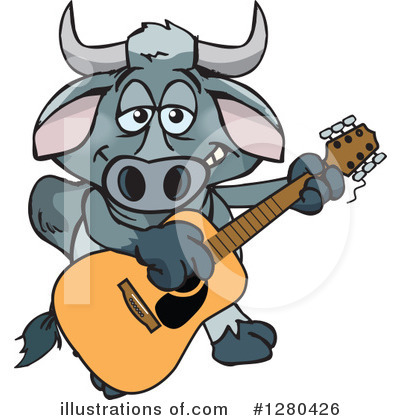 Bull Clipart #1280426 by Dennis Holmes Designs