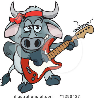 Bull Clipart #1280427 by Dennis Holmes Designs
