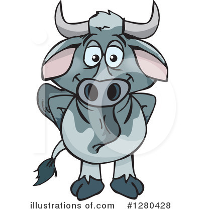 Cow Clipart #1280428 by Dennis Holmes Designs