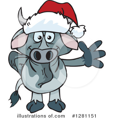 Bull Clipart #1281151 by Dennis Holmes Designs