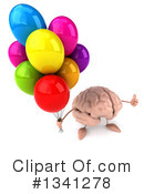 Brain Character Clipart #1341278 by Julos