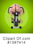 Brain Character Clipart #1387414 by Julos