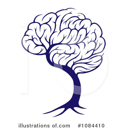 Brain Tree Clipart #1084410 by AtStockIllustration