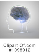 Royalty-Free (RF) brain Clipart Illustration #1098912