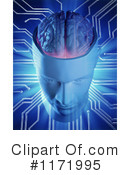 Royalty-Free (RF) Brain Clipart Illustration #1171995