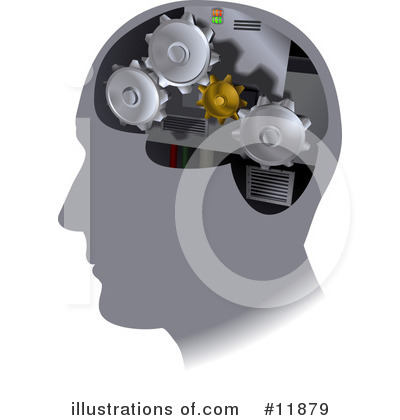 Royalty-Free (RF) Brain Clipart Illustration by AtStockIllustration - Stock Sample #11879