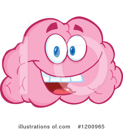Brain Mascot Clipart #1200965 by Hit Toon