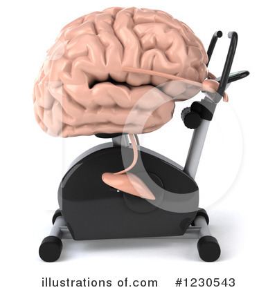 Royalty-Free (RF) Brain Clipart Illustration by Julos - Stock Sample #1230543