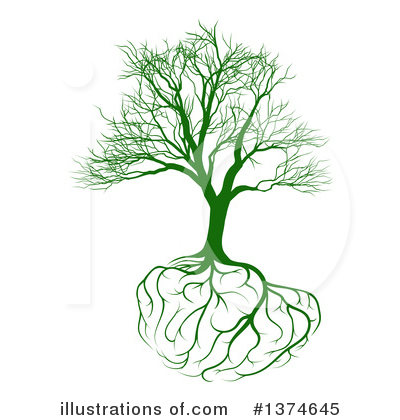 Brain Tree Clipart #1374645 by AtStockIllustration