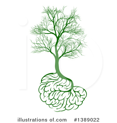 Brain Tree Clipart #1389022 by AtStockIllustration