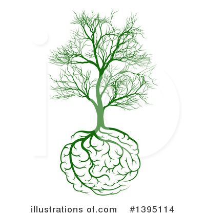 Brain Tree Clipart #1395114 by AtStockIllustration