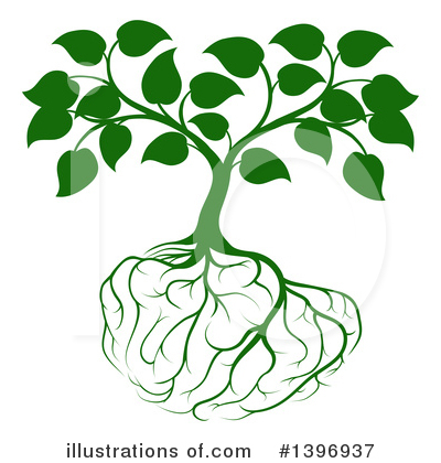 Brain Tree Clipart #1396937 by AtStockIllustration