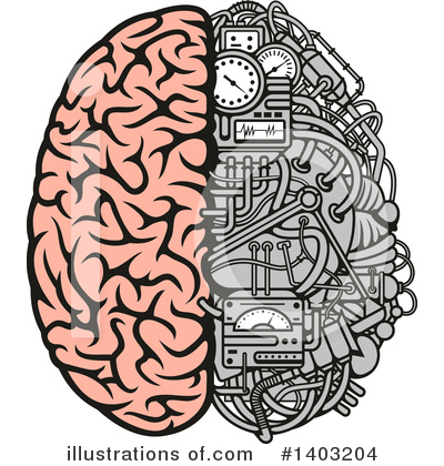Royalty-Free (RF) Brain Clipart Illustration by Vector Tradition SM - Stock Sample #1403204