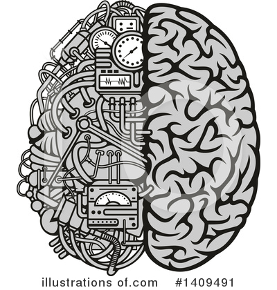 Brain Clipart #1409491 by Vector Tradition SM