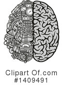 Royalty-Free (RF) Brain Clipart Illustration #1409491
