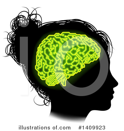 Royalty-Free (RF) Brain Clipart Illustration by AtStockIllustration - Stock Sample #1409923