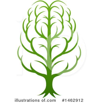 Brain Tree Clipart #1462912 by AtStockIllustration