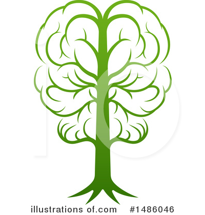 Brain Tree Clipart #1486046 by AtStockIllustration