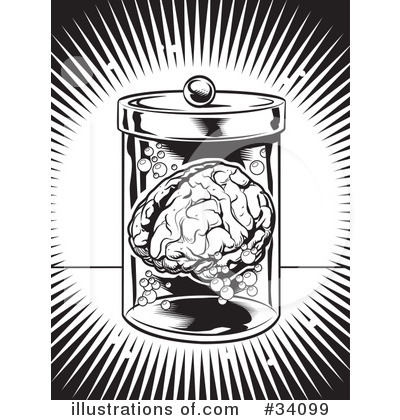 Royalty-Free (RF) Brain Clipart Illustration by Lawrence Christmas Illustration - Stock Sample #34099