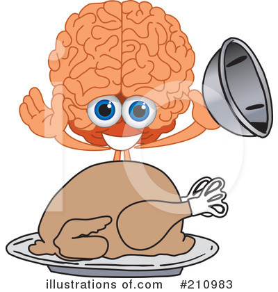 Brain Mascot Clipart #210983 by Toons4Biz