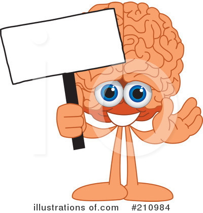 Brain Mascot Clipart #210984 by Toons4Biz