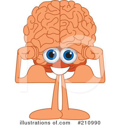 Brain Mascot Clipart #210990 by Toons4Biz