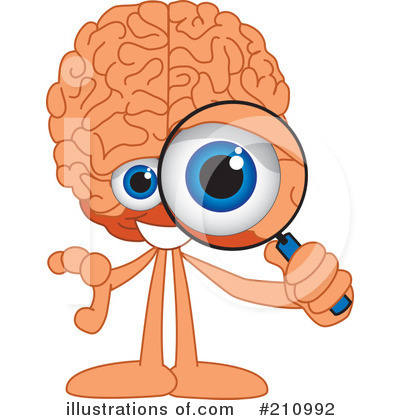 Brain Mascot Clipart #210992 by Toons4Biz