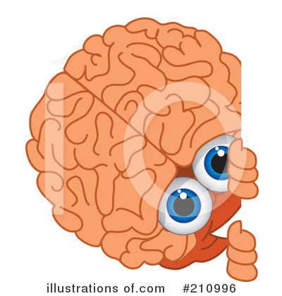 Brain Mascot Clipart #210996 by Toons4Biz