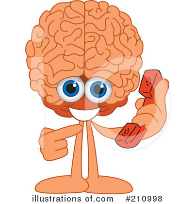 Brain Mascot Clipart #210998 by Toons4Biz
