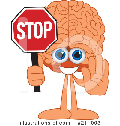 Brain Mascot Clipart #211003 by Toons4Biz