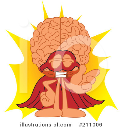 Brain Mascot Clipart #211006 by Toons4Biz