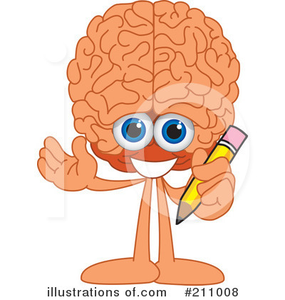 Brain Mascot Clipart #211008 by Toons4Biz