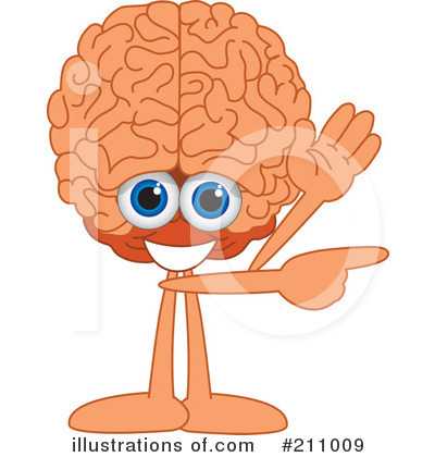 Brain Mascot Clipart #211009 by Toons4Biz