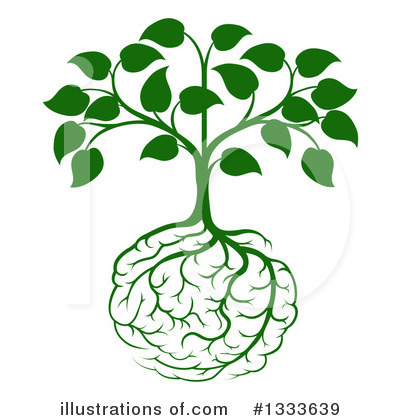 Brain Tree Clipart #1333639 by AtStockIllustration