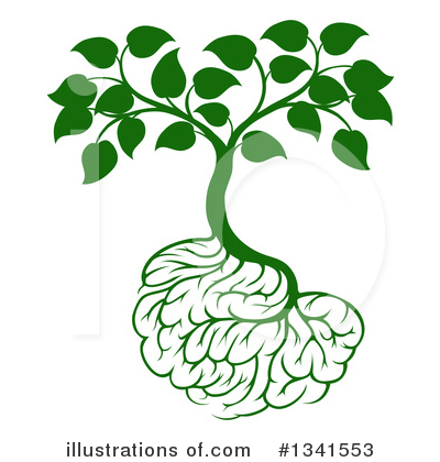 Brain Tree Clipart #1341553 by AtStockIllustration